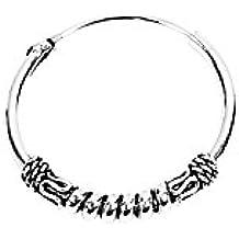 nklaus par Plata de ley 925celta Bali fina Vikingo Pendientes de aro 18mm Ornamentación 3928