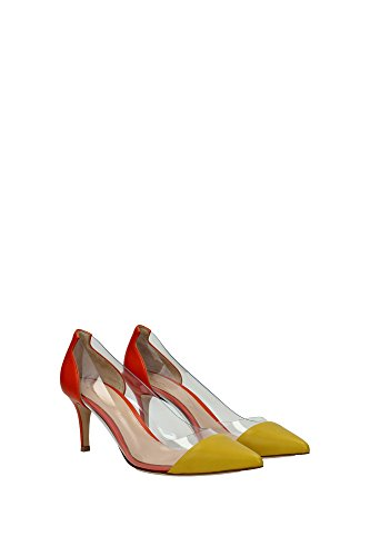 Pumps Gianvito Rossi Damen Leder Senf und Orange G2856070RICNPXMTRM Gelb 38.5EU