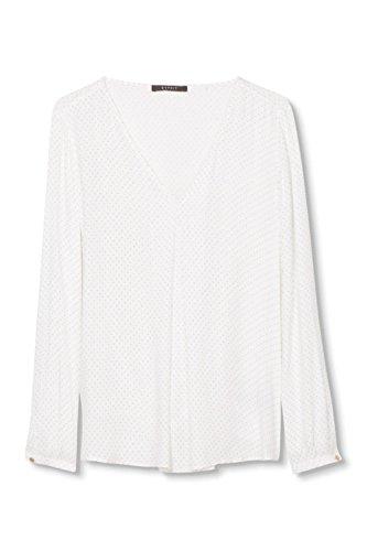 ESPRIT Collection Damen Bluse Softe Qualität Weiß (OFF WHITE 110)