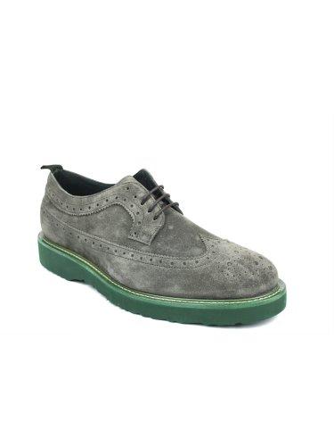 FRAU , Chaussures de ville à lacets pour homme Gris Fumo Gris