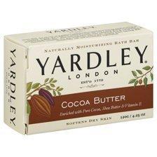Yardley Cocoa Butter Bath Naturally Moisturizing Soap Bar - 4.25 Oz, 3 Pack by Yardley