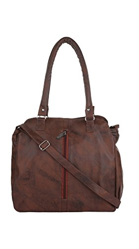 CFI Dark Brown Synthetic Leather Shoulder / Sling Bag For Women / Girls