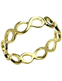 KEA 18K GOLD PLATEDSTERLING SILVER OPENWORK INFINITY WRAP RING FOR WOMEN 18K GOLD PLATED SILVER (
