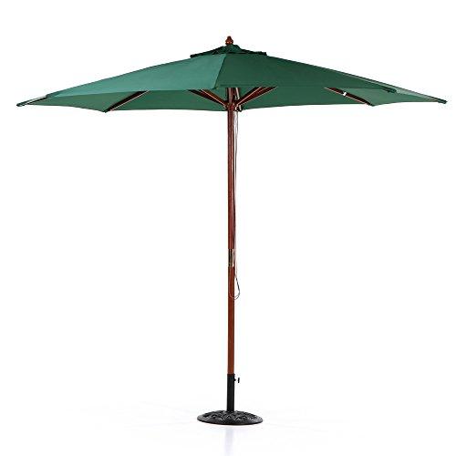 IKAYAA Zhum-016 - Sombrilla de Terraza (Diámetro 3m) - Uso para Jardín/Playa/Aire Libre/Patio/Cafetería/Restaurante