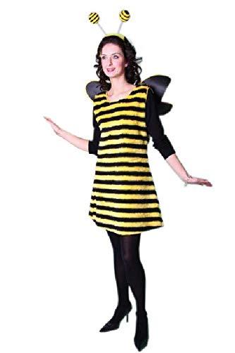 Festartikel-Müller Bienen Kostüm für Damen, Kleid mit Flügeln und Fühler (36/38)
