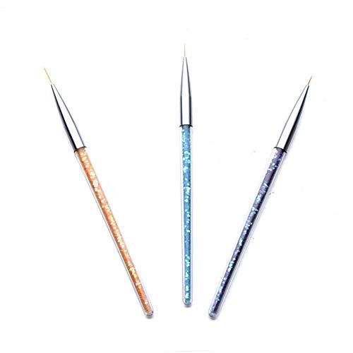 Zehen Maniküre Stift (jhtceu 1 Set Nail Art Pinsel 3 Stück Linien Zeichnen Malerei Dünn Pinsel Stift DIY Maniküre Beauty Tool)