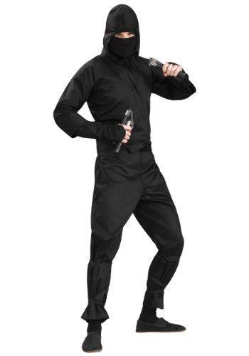 s Ninja-Anzug, Schwarz (Erwachsene Schwarze Ninja Kostüme)