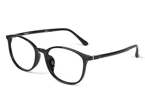 JSHFD Computer-Lesebrille Blaues Licht Blocking Eye Reader Damenmode Korrektionsbrillen Leichte Brillen mit Federscharnier (Color : Black, Size : 2.5)