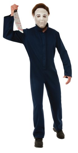dunkelblaues Michael Myers Kostüm für Erwachsene, -