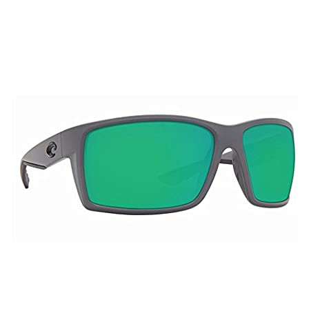 Costa Del Mar RFT98OGMP Mens Matte Gray/Green Rectangular Polarized Sunglasses