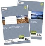 Ursus Basic 040450020 Schulblock LIN20 A4 50 Blatt 70g