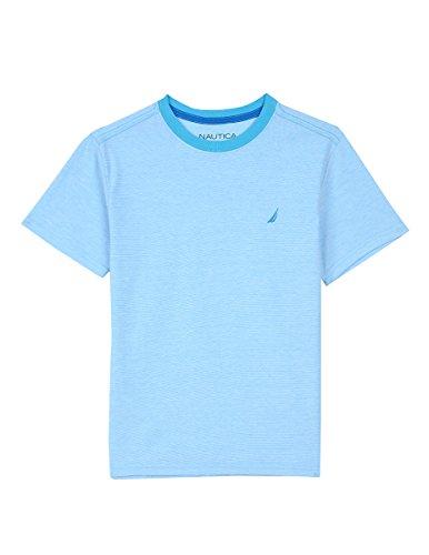 Nautica Big Boys' Short Sleeve Solid Crewneck Tee Shirt, Turquoise, L(14/16) (T-shirt Crewneck Solid Sleeve Short)