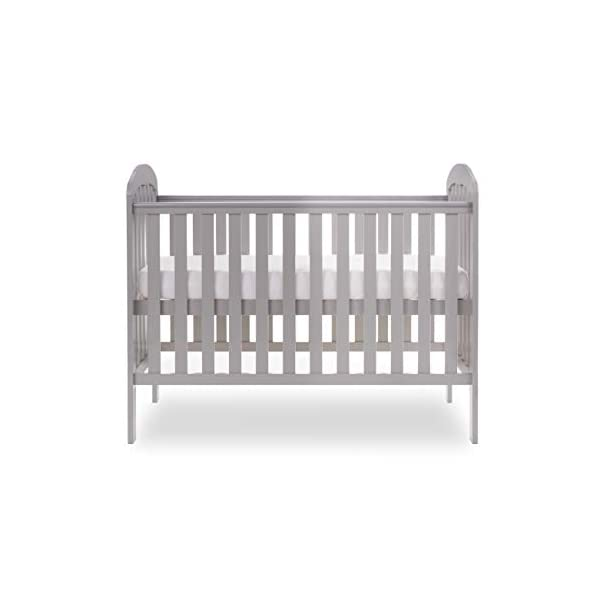 Obaby Lily Cot and Moisture Management Mattress - Warm Grey Obaby Suitable from birth to 18 months approximately Three position mattress height with protective teething rails Internal measurements of 120 x 60cm 5