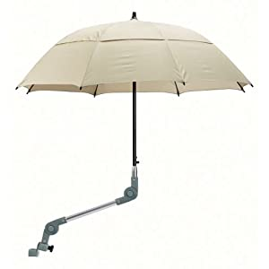 Dietz Rollatorschirm Regenschirm für Rollator braungrau mit Halterung