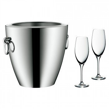 WMF 0683919990 Champagner-Set 3-teilig JETTE