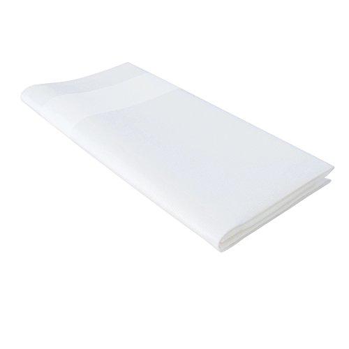 Tischdecke, weiß, 140x200cm, Baumwolle, Satinband