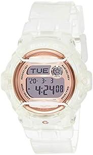 Casio Womens Quartz Watch, Digital Display and Plastic Strap BG169G-7BCR