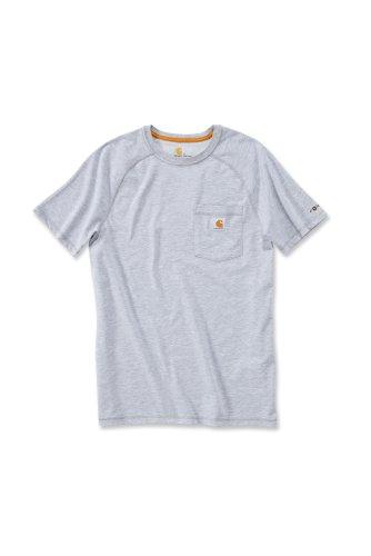 Carhartt Force® Cotton Short Sleeve T-Shirt Baumwolle mit Brusttasche 100410 Grau