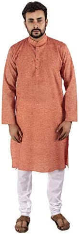 Luckwin Men's Khadi Cotton Kurta Py