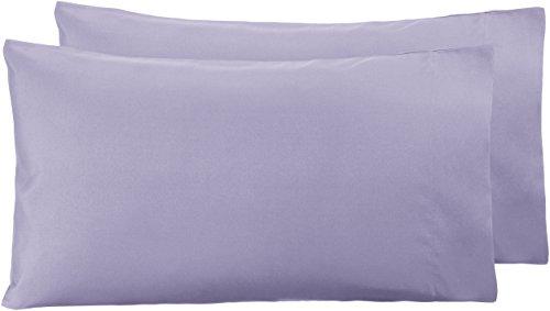 AmazonBasics - Funda de almohada de microfibra, 2 unidades, 50 x 80 cm - Lavanda