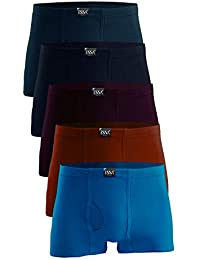 ESSA Mens Cotton Trunks Without Pocket, Pack of 5 [Colour May Vary]