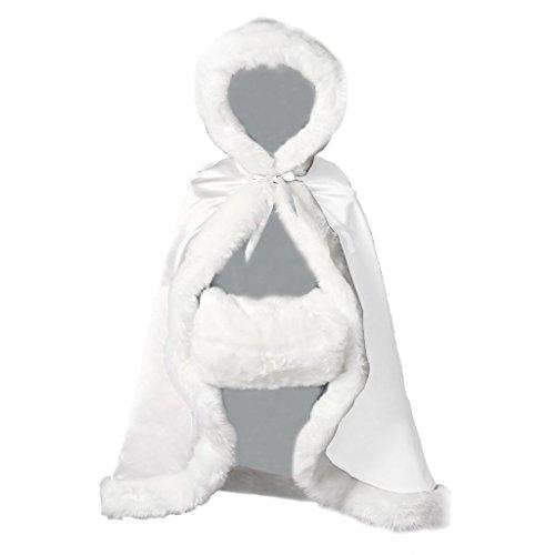 ze Kinder Klein Winter Warm Kunstpelz Für Hochzeit Halloween Blumenmädchen (Sah Kinder Kostüm)