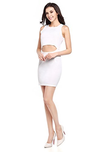 Sexy Trägerlos Paket Hüfte ärmelloses Kleid White
