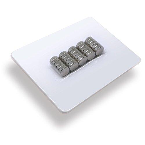 25 x Neodym-Magnete rund als Magnet-Scheibe in Ø 8 x 3 mm hoch, vernickelt (NiCuNi) | Haftkraft ca. ~1,1 kg | 25 Scheibenmagnete