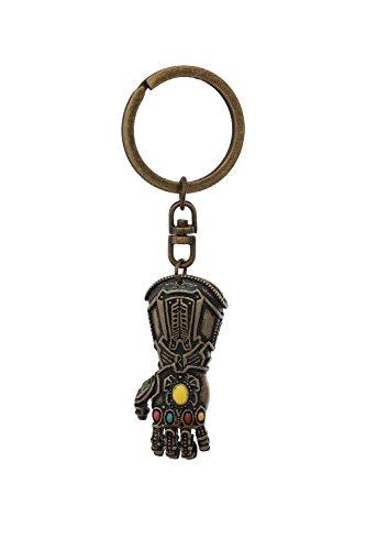Handschuhe Gauntlet Kostüm - Thanos Gauntlet Schlüsselbund Endgame Infinity Gems Kupfer Handschuhe Anhänger Schlüsselanhänger Cosplay Kostüm Halloween Merchandise Zubehör
