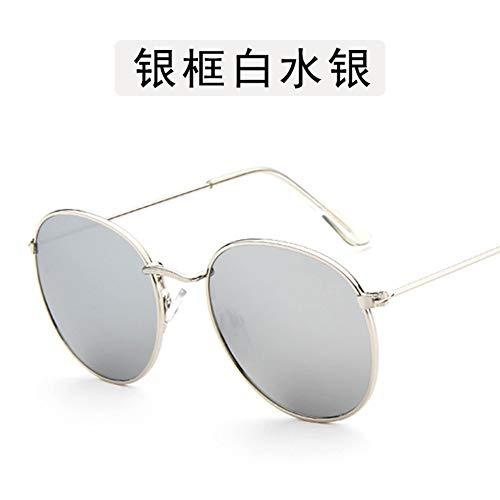 Sonnenbrille Kleine Runde Sonnenbrille Frauen Männer Aviation Auge Sonnenbrille Metallrahmen Sonnenschutz Für Frauen Top Selling Silver
