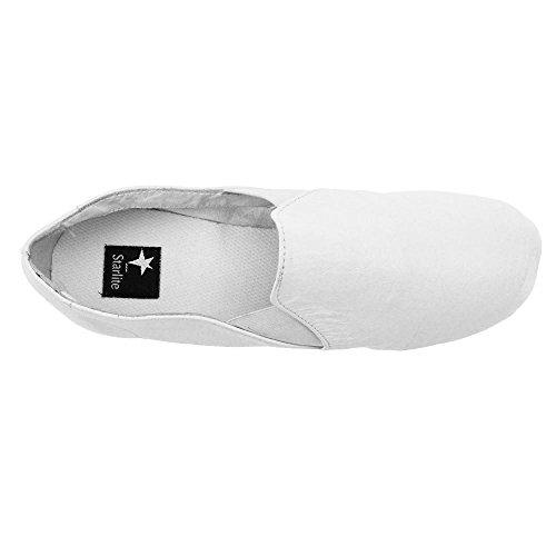 Starlite Slip Active On Rubber Sole Chaussures Jazz Blanc