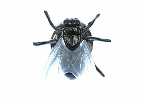 Miniblings Fliegenbrosche Brosche Pin Fliege Button Schmeißfliege Halloween 2cm
