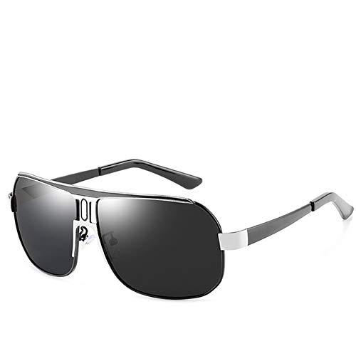 GEETAC Herren Classic Aviator Sonnenbrille Polarized UV 400 Schutz Anti-Rutsch-Fahren Angeln Golf Mode Sonnenbrillen für Männer,Black