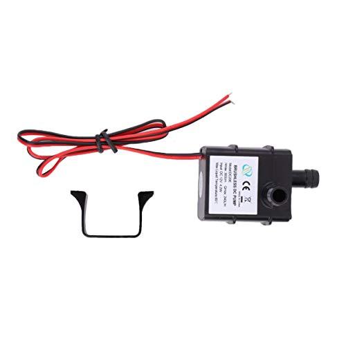 enuine DC Wasserpumpe 240L / H 12V Mini Ultra Quiet Schwarz Pumpe, Schwarz ()