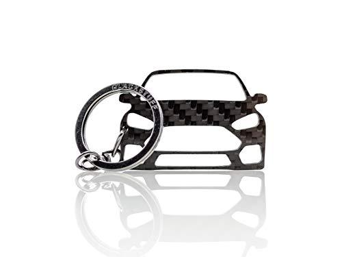 BlackStuff Carbon Karbonfaser Schlüsselanhänger Kompatibel mit Focus RS MK3 2011-2018 BS-183 - Focus Schlüsselanhänger Ford
