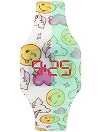Montre LED numérique garçon, Fille, Enfants et Adolescents, Bracelet en Silicone Souple et Doux au Toucher, Cadeau Tendance, Kiddus (001 Licorne)