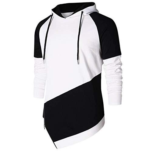 Sweat-Shirt à Manches Longues Automne Hiver Fashion Chemisier Fille Blouse, Pullover LâChe Fleece Blouse Hoodie Japan (Noir, XL(EU=40))