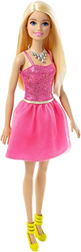 Barbie dgx82 glitz - bambola con abito fucsia, bionda