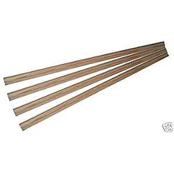 4listones de madera para tendedero AGA de 1,2m de largo