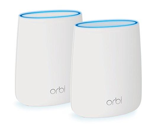 Netgear Orbi RBK20-100PES AC2200 Tri-band Mesh WLAN System (bis zu 250 m2 und kompatibel mit Alexa) weiß matt
