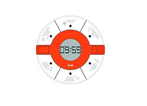Aubecq 500294Timer zu Teig Kunststoff weiß 7,5x 7,5x 2cm