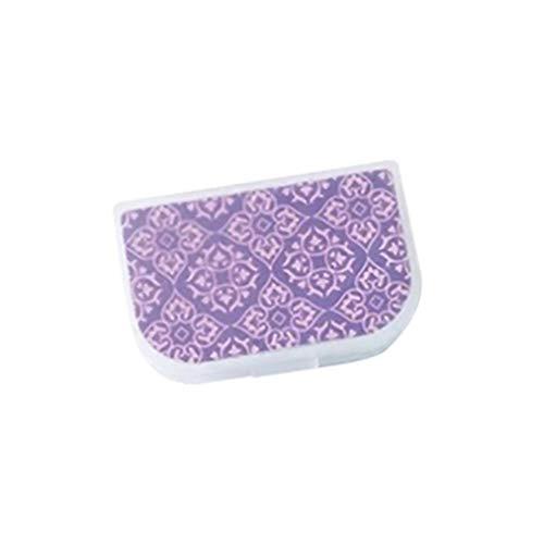 Topsaire Kontaktlinsenbehälter Weiche Linsen Hoch Einfach Transparent Scrub Portable Myopie Contact Lens Case Violett Pflegelösung Behälter Kontaktlinsen-Etui Multifunktions(eins zu eins)