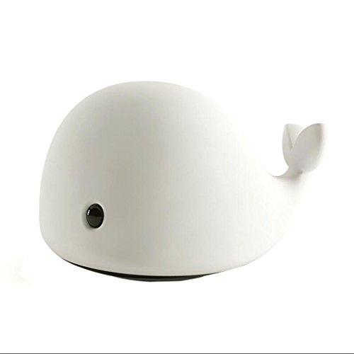 JKL Nachtlicht Cartoon Delphin Baby Pats Nachtlicht USB-Lade Mini Wal Bunte Verfärbung Touch Nachttischlampe