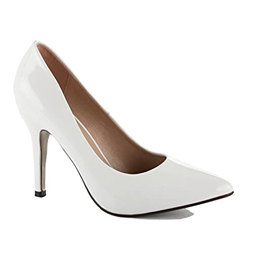WOMENS LADIES LOW MID HIGH HEEL POINTED COURT SMART PARTY OFFICE WORK STILETTO SHOES PUMPS SIZE B06XH3LZ2H