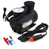 #3: Kitchen Point Air Pump Compressor 12V Electric Car Bike Tyre Tire Inflator/Compact Durable Car Air Compressor Car Tire Inflator Auto Air Compressor Tire Pump with Pressure Gauge for Car Bicycle Ball Rubber Dinghy DC 12V