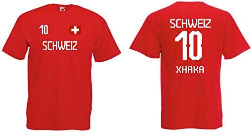 Schweiz Xhaka T-Shirt im Trikot Look WM 2018