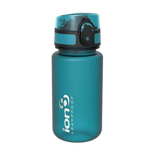 Ion8 Botella de Agua, sin BPS, a pueba de Fugas, 350ml / 12oz, Turquesa