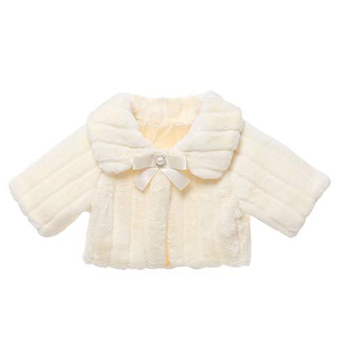 Zhhlinyuan Mode Niedlich Oberbekleidung Mantel Kleid Mantel Prinzessin Kostüme für Mädchen - Winter Warme Cape Schulter Kinderjacken