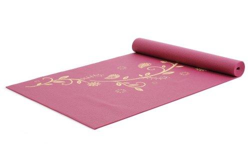 Yogistar Yogamatte basic Indian Flower - rutschfest - Bordeaux