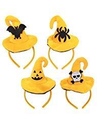 Halloween Karneval Geister Stirnband, Spider Bat Hexe Flanell Stirnband, Maskerade Party Dress Up Kopfbedeckung Kostüm Zubehör für Kinder und Erwachsene, 4er ()
